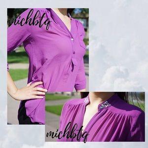 purple blouse w/ gems